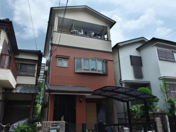 吹田市山田市場T様邸屋根外壁塗替えリフォーム