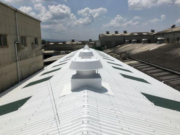 奈良県天理市 工場屋根防水塗料改修工事