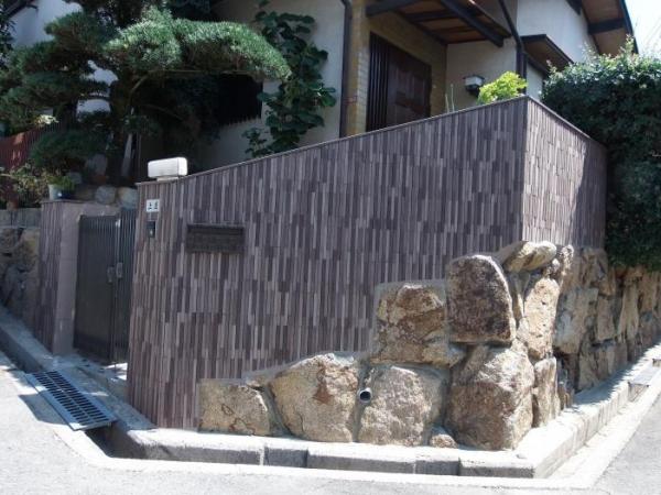 豊中市刀根山A様邸外構タイル(サイモン)塗装リフォーム