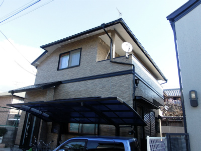 豊中市立花町 N様邸 屋根外壁塗替えリフォーム
