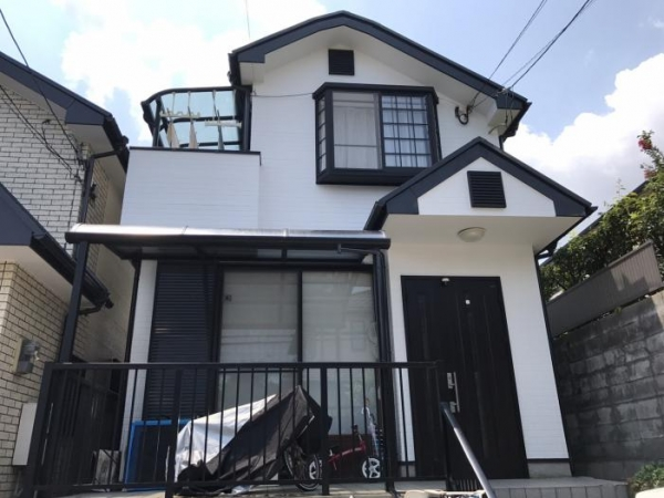 豊中市千里園 H様邸屋根外壁防水塗装リフォーム