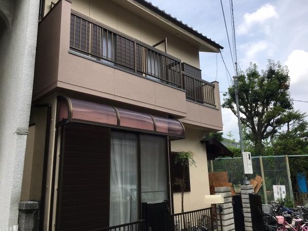 豊中市桜ノ町N様邸 漆喰外壁防水塗装工事