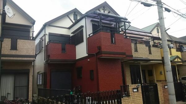 尼崎市水堂町O様邸屋根外壁防水塗装リフォーム
