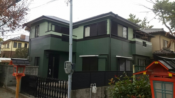 豊中市服部南町Y様邸外壁屋根塗装リフォーム