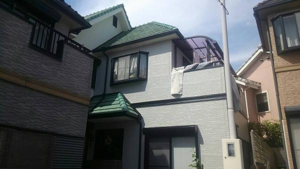 箕面市船場西Y様邸屋根修繕外壁防水塗装リフォーム工事