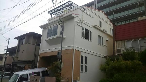 豊中市立花町T様邸屋根外壁その他防水リフォーム