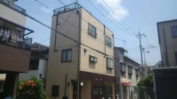 豊中市三和町T様邸屋上外壁防水塗装リフォーム