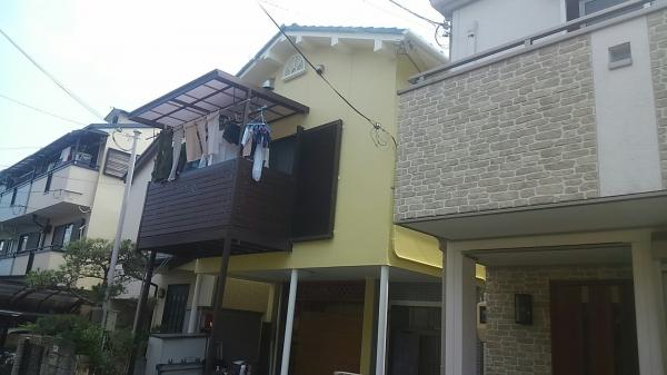 豊中市夕日丘O様邸外壁防水塗装屋根修繕リフォーム
