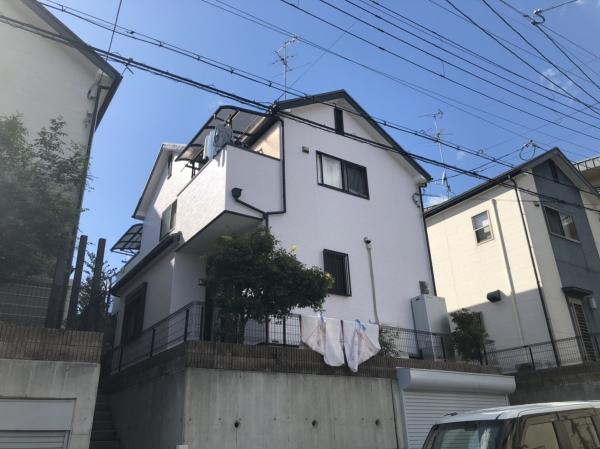 池田市五月丘 S様邸屋根外壁塗装防水リフォーム