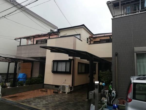 豊中市蛍池西町K様邸外壁屋根塗装防水リフォーム