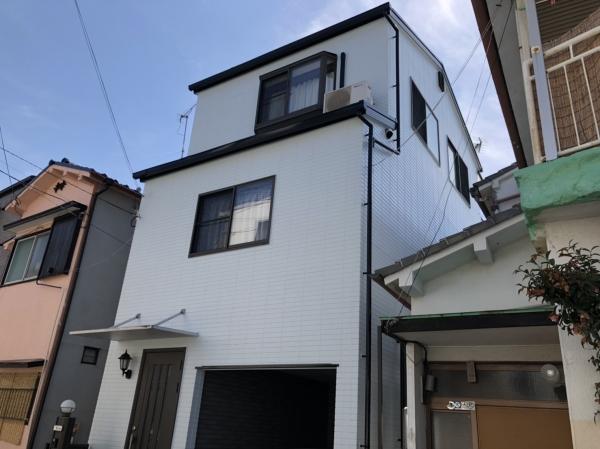 豊中市春日町N様邸屋根外壁塗装防水リフォーム