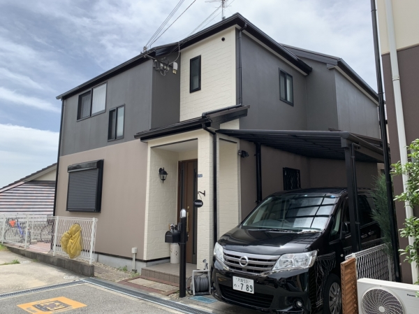 豊中市上野東Y様邸屋根外壁塗装防水リフォーム