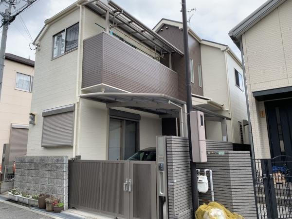 豊中市上野西M様邸外壁屋根塗装・防水リフォーム