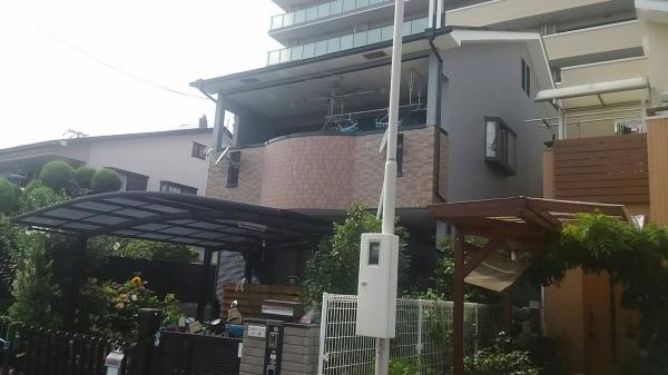 豊中市立花町M様邸屋根外壁防水塗装リフォーム