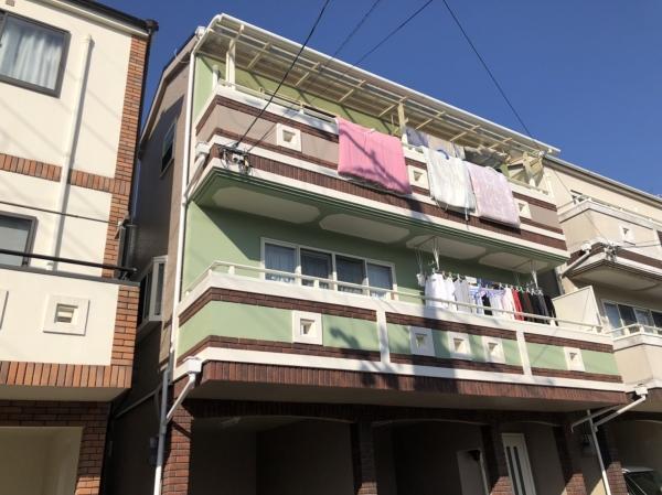 豊中市立花町S様邸外壁屋根塗装防水リフォーム