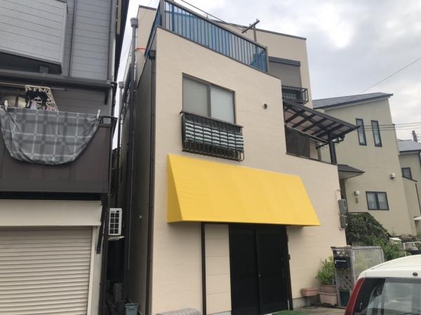 尼崎市稲葉荘 K様邸外壁1面塗装防水リフォーム