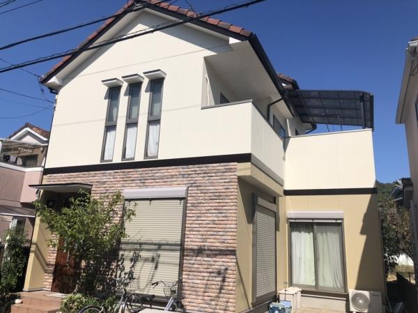 池田市古江台 H様邸外壁塗装防水リフォーム