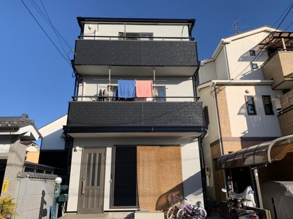 豊中市服部西町K様邸外壁屋根塗装防水リフォーム