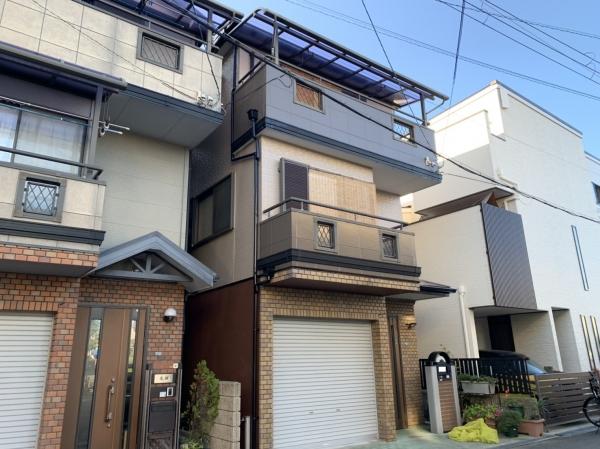 豊中市服部寿町M様邸外壁屋根塗装防水リフォーム