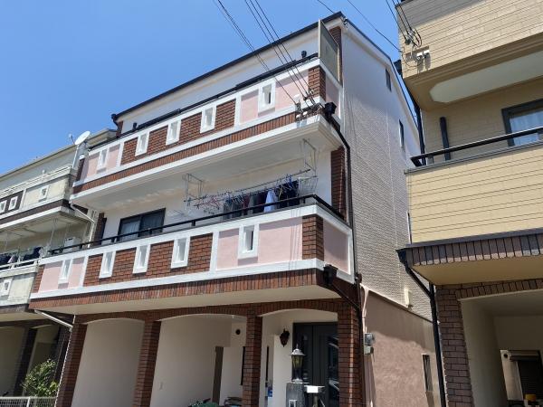 豊中市立花町O様邸外壁屋根塗装防水リフォーム