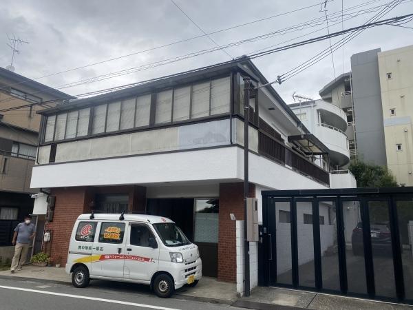 豊中市本町K様邸外壁塗装防水リフォーム