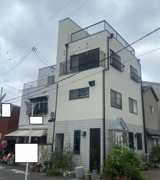 池田市大和町Y様邸外壁塗装屋上ベランダ防水リフォーム