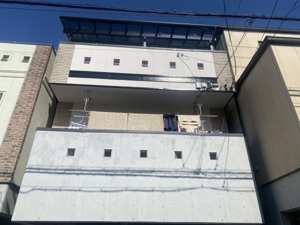 豊中市庄内東町K様邸外壁(1面)屋根塗装防水リフォーム