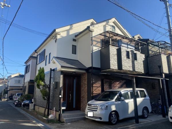 豊中市曽根西町F様邸外壁屋根塗装防水リフォーム
