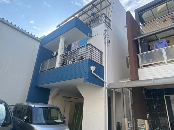 豊中市浜S様邸外壁屋根塗装防水リフォーム