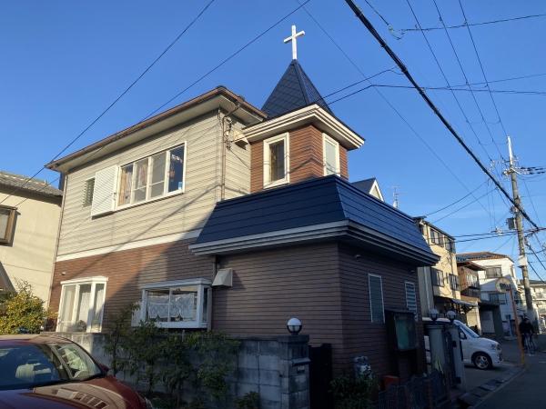 豊中市北条町B教会様屋根塗装防水リフォーム