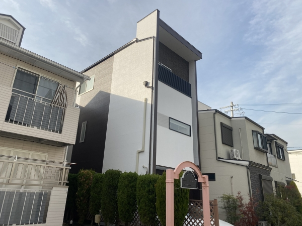 豊中市服部寿町Y様邸外壁屋根塗装防水リフォーム
