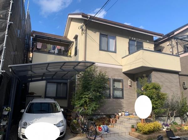吹田市長野西I様邸外壁塗装防水リフォーム