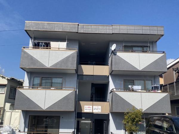 池田市神田A様所有物件外壁塗装防水リフォーム