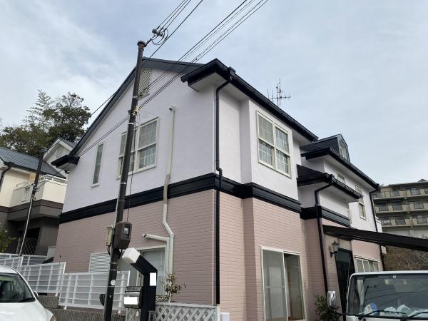 宝塚市平井山荘M様邸外壁屋根塗装防水リフォーム