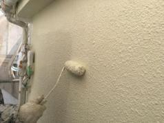 屋根・外壁塗替えリフォーム 外壁上塗り