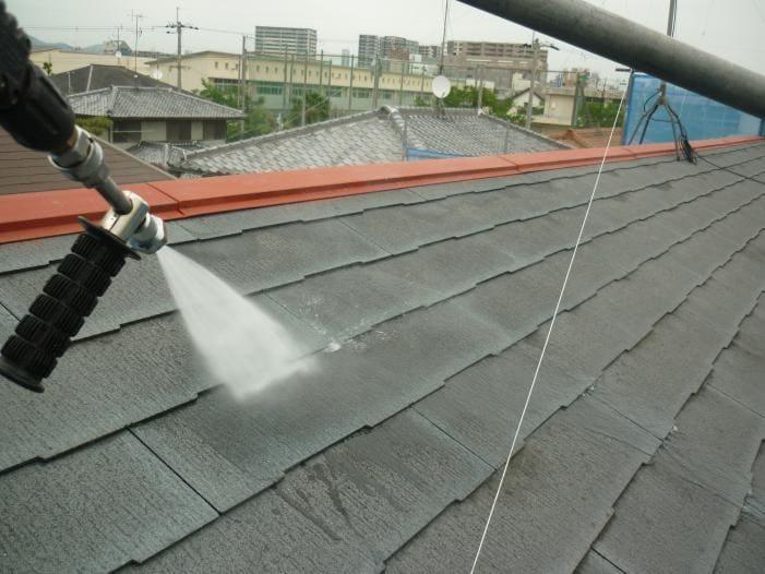 外壁屋根防水リフォーム工事 屋根高圧洗浄