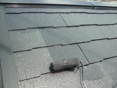 外壁屋根防水リフォーム工事 屋根上塗り