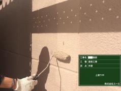 外壁塗装工事 外壁上塗り完了