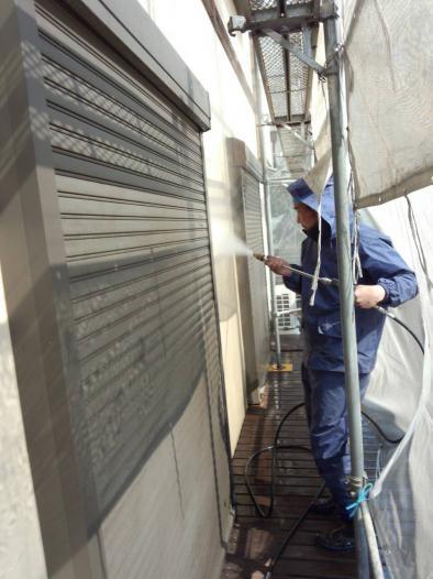 外壁リフォーム工事 外壁高圧洗浄
