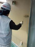 外壁リフォーム工事 外壁塗装中